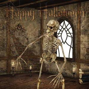 Skeleton Halloween card