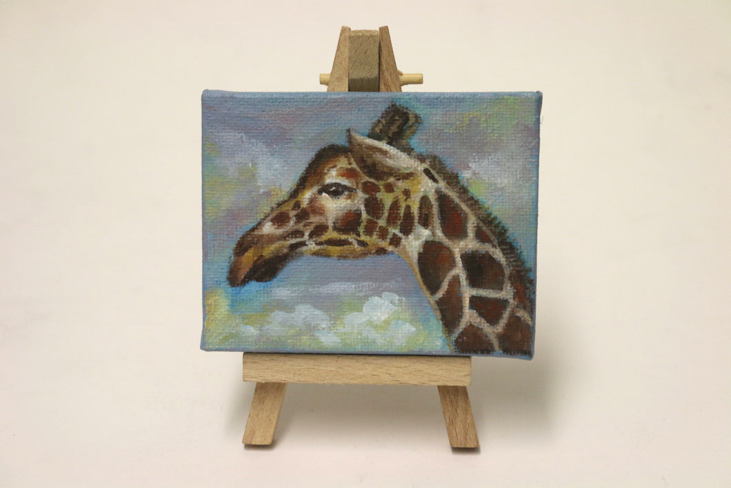 'Giraffe' mini-canvas original painting by Tony Nero