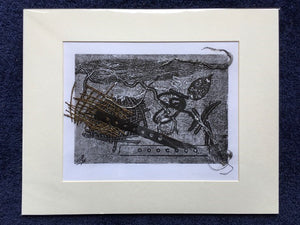 """In the Deep"": Original Collaged Mono-Print by Prue Pye"