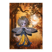 Autumn Fairy Birthday Card