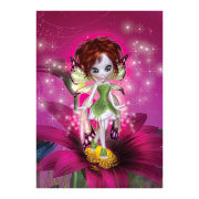Little Pink Flower Fairy Birthday Card