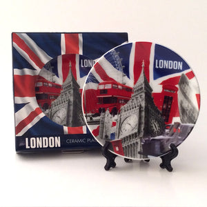 London range: Decorative plate and stand (modern)