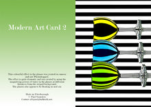 Load image into Gallery viewer, Modern Art card 2 3 wine glasses by Paul Saunders
