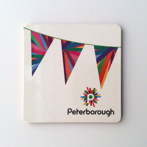 Peterborough memories range: Coaster bunting design (1) modern