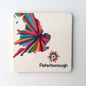 Peterborough memories range: Coaster map design (1) modern