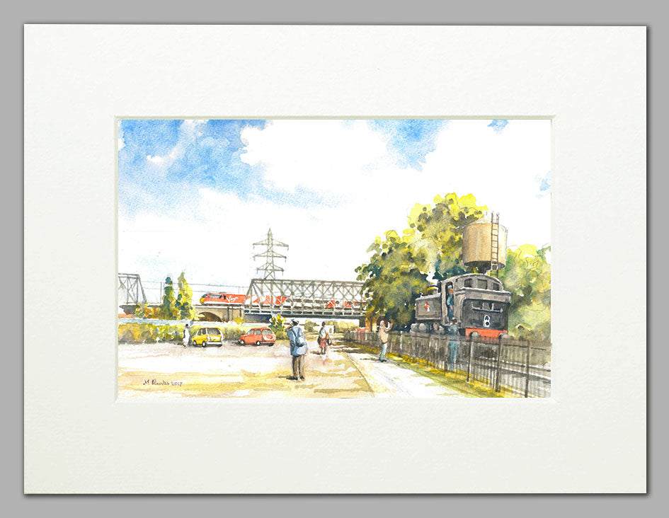 Nene Valley Railway, Peterborough (A4 print of original watercolour)