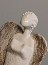 Load image into Gallery viewer, Ceramic Angel with Mother of Pearl Lustre Wings (large) by Christine Withall