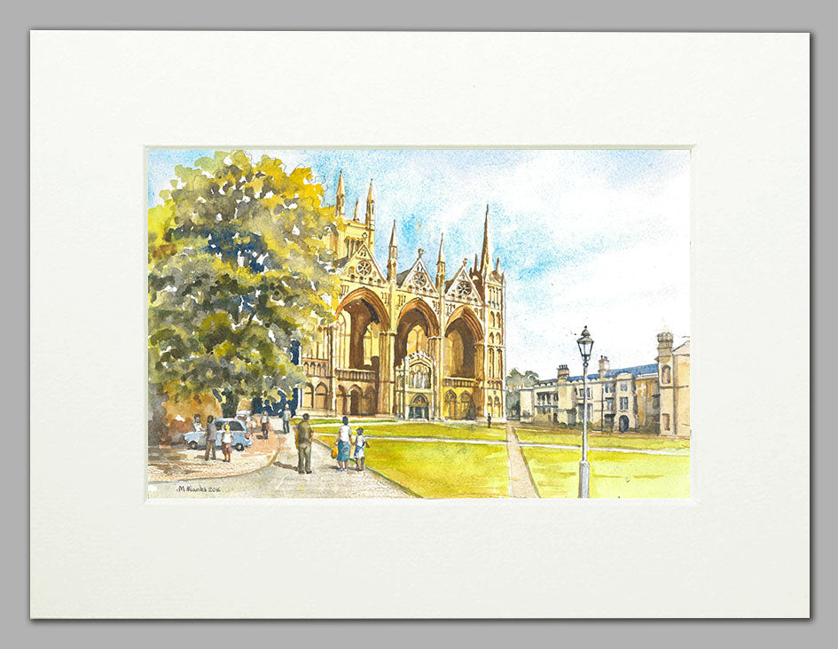 Peterborough Cathedral  (A4 print of original watercolour)