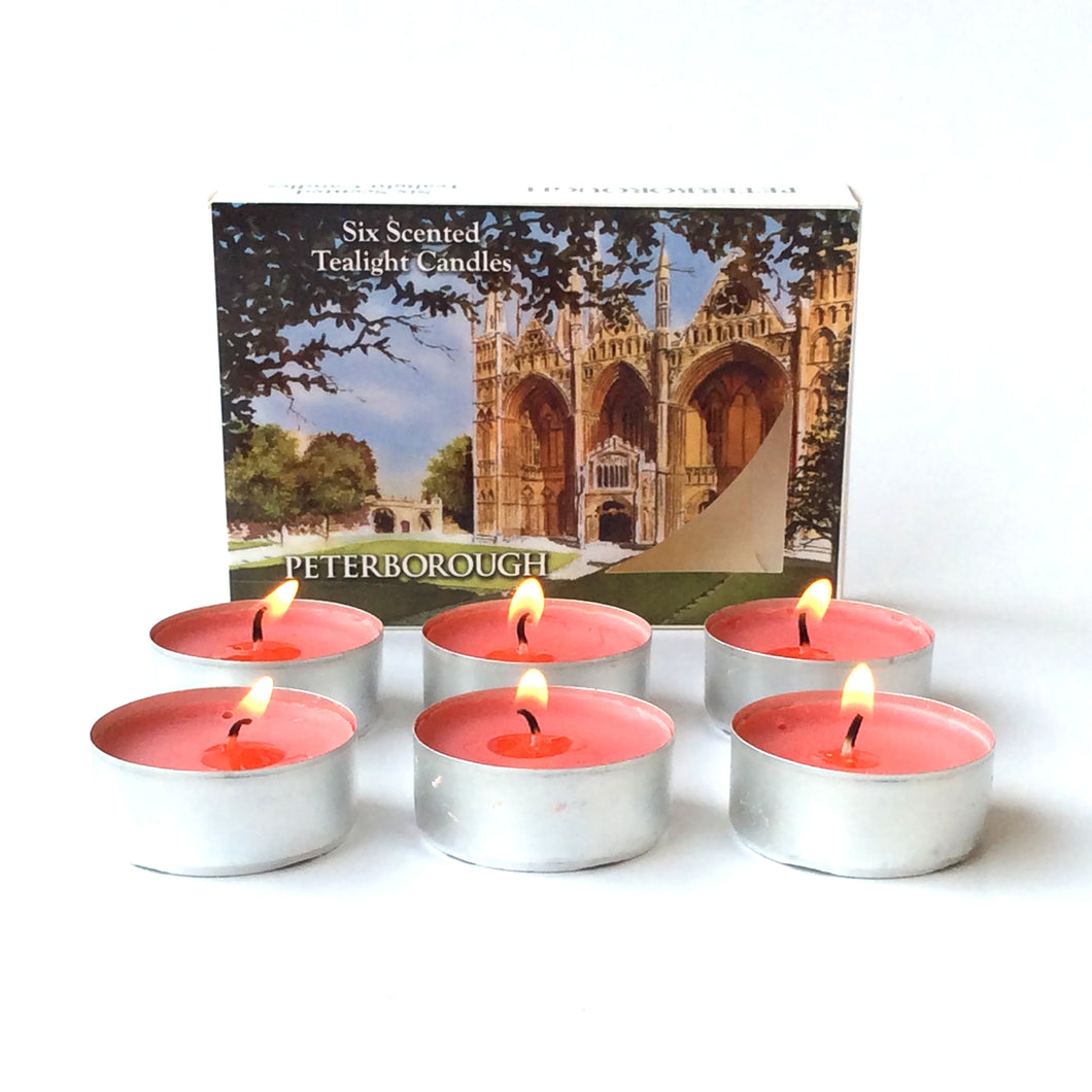 Peterborough Cathedral range:  Scented Tealights (6) Traditional