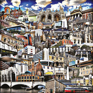 Peterborough City Buildings (Montage) Print