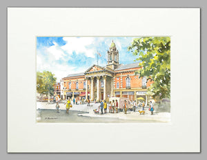 Peterborough Town Hall (A4 print of original watercolour)