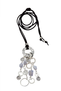 Silver and Chalcedony Pendant