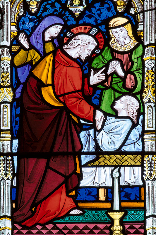 Peterborough Cathedral Stained Glass Window in memory of John Gates by Paul Saunders