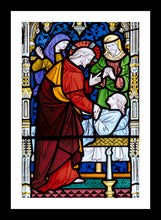 Load image into Gallery viewer, Peterborough Cathedral Stained Glass Window in memory of John Gates by Paul Saunders