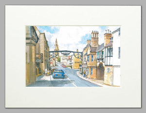The George, Stamford  (A4 print from original watercolour)