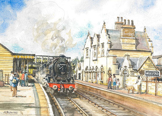 Steam Train at Wansford Station (Card)