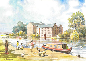 Whitworth's Mill, Peterborough (Card)