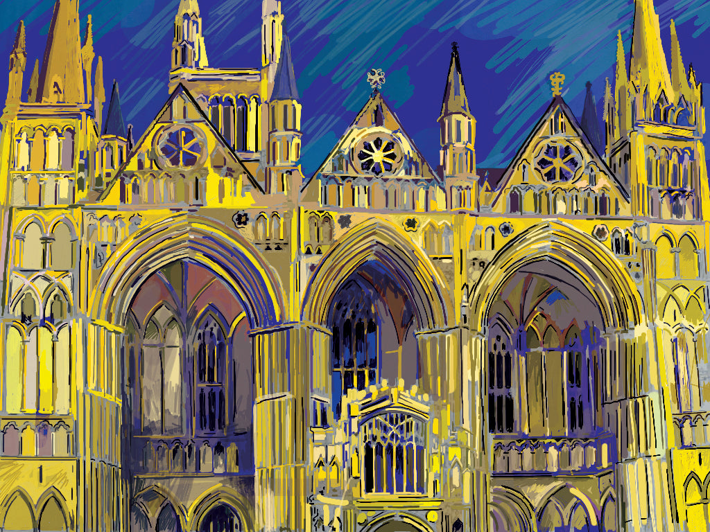 Peterborough Cathedral - 'West Front 2' by David Lewis
