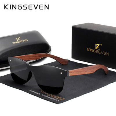 Polarized Walnut Wood Sunglasses 2019 - G & R