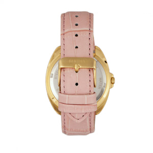 Bertha Amelia Leather-Band Watch w/Date - Light Pink - BTHBR6305