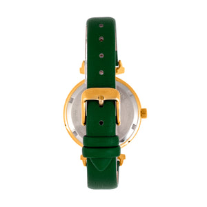 Bertha Jasmine Leather-Band Watch - Green - BTHBR9604