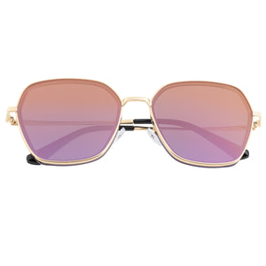 Bertha Emilia Polarized Sunglasses - Gold/Purple-Gold - BRSBR037PU