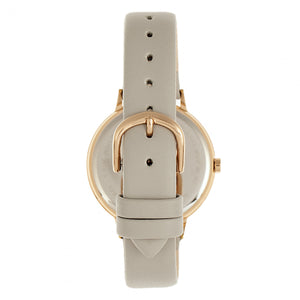 Bertha Delilah Leather-Band Watch - Rose Gold/Grey - BTHBR8605