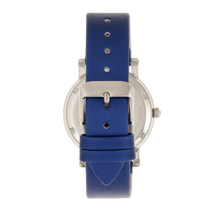 Bertha Vanessa Leather Band Watch  - Blue - BTHBR8703