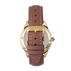 Bertha Clara Leather-Band Watch - Mauve - BTHBR8103