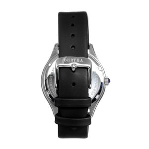Bertha Georgiana Mother-Of-Pearl Leather-Band Watch - Silver/Black - BTHBS1101