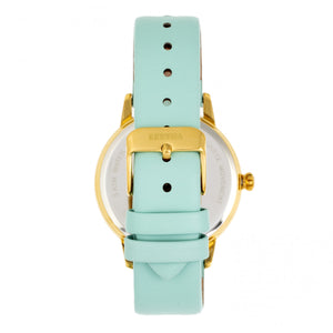 Bertha Grace MOP Leather-Band Watch - Mint - BTHBR9003