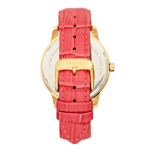 Bertha Prudence Leather-Band Watch - Pink - BTHBS1403