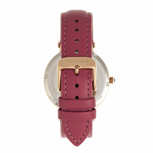 Bertha Allison Leather-Band Watch - Pink - BTHBR9306