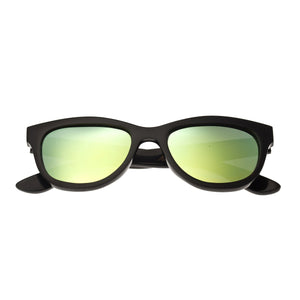 Bertha Carly Buffalo-Horn Polarized Sunglasses - Black/Green - BRSBR009BG