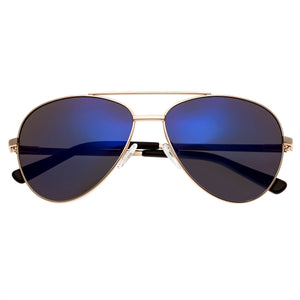 Bertha Bianca Polarized Sunglasses - Gold/Purple-Blue - BRSBR020RG
