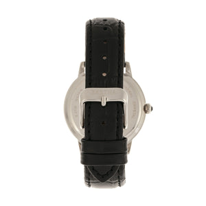 Bertha Madeline MOP Leather-Band Watch - Black - BTHBR7104