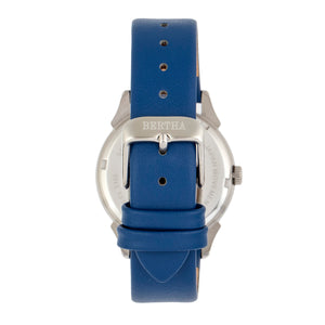 Bertha Ida Mother-of-Pearl Leather-Band Watch - Blue - BTHBS1202