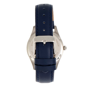Bertha Dixie Floral Engraved Leather-Band Watch - Blue - BTHBR9902