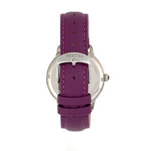 Bertha Dolly Leather-Band Watch - Purple  - BTHBS1003