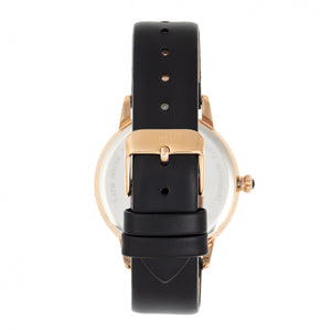 Bertha Grace MOP Leather-Band Watch - Black - BTHBR9006