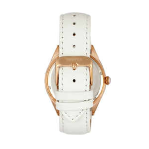 Bertha Ericka MOP Leather-Band Watch - White - BTHBR7206