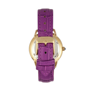 Bertha Abby Swiss Leather-Band Watch - Gold/Fuchsia - BTHBR6806