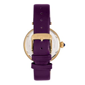 Bertha Rosie Leather-Band Watch - Gold/Purple - BTHBR8804