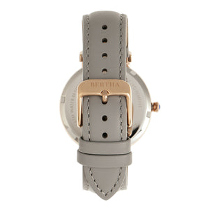 Bertha Allison Leather-Band Watch - Grey - BTHBR9305
