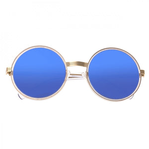 Bertha Riley Polarized Sunglasses - Gold/Blue - BRSBR028BL