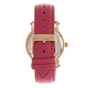Bertha Chelsea MOP Leather-Band Ladies Watch - Rose Gold/Pink - BTHBR4904
