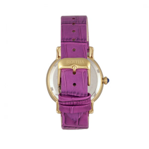 Bertha Courtney Opal Dial Leather-Band Watch - Hot Pink - BTHBR7903