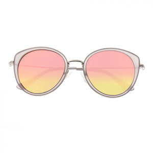 Bertha Sasha Polarized Sunglasses - Silver/Rose Gold - BRSBR030SL