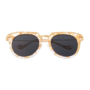 Bertha Aaliyah Polarized Sunglasses - Peach Tortoise/Black - BRSBR023BK