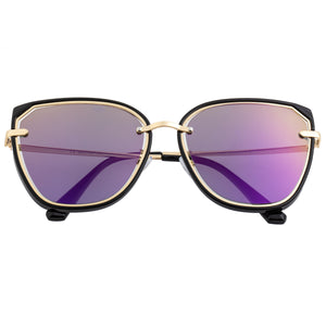 Bertha Rylee Polarized Sunglasses - Black/Purple - BRSBR041PU